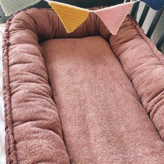 Babynestchen-XL, Babycocoon, Stubenwagen Wiege, Aubergine, mit Schutzeinlage 2